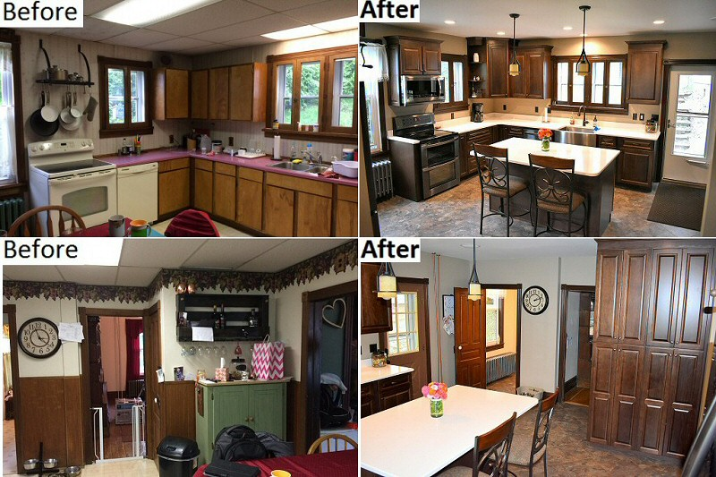 Before And After Kitchen Remodeling Serving Lehigh Valley Poconos